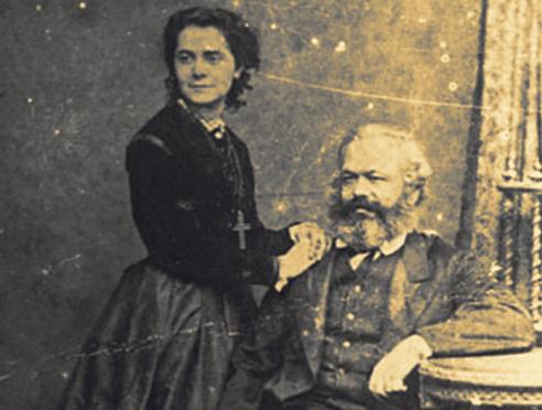 Karl Marx y su esposa Jenny ✆ e